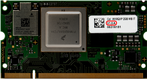 Find the Version of your Colibri iMX8X