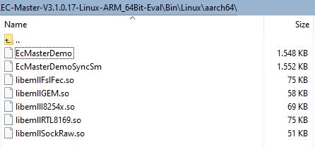 \Bin\Linux\aarch 64 directory