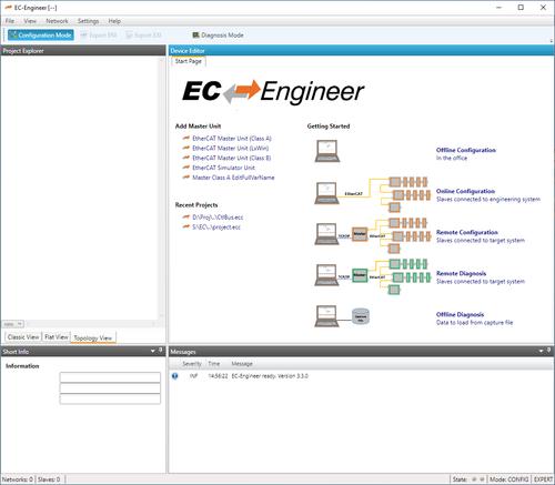 EC Engineer Homescreen