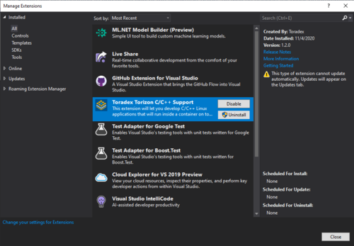 Torizon Extension for Visual Studio