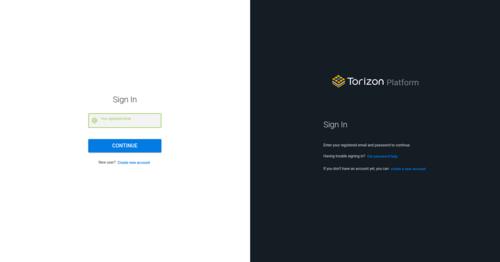 Torizon OTA login page
