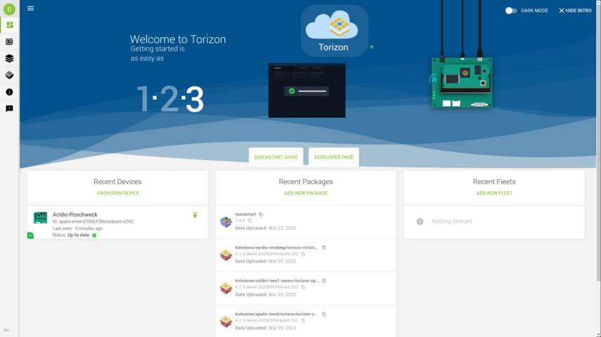 Creating a Fleet with Torizon OTA