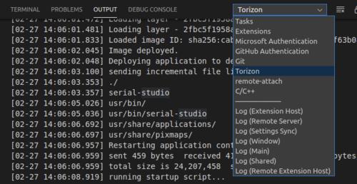 VS Code Torizon Output