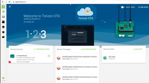 Torizon OTA web app