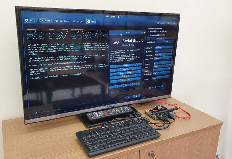 Running Serial Studio on Apalis iMX8 and an HDMI display