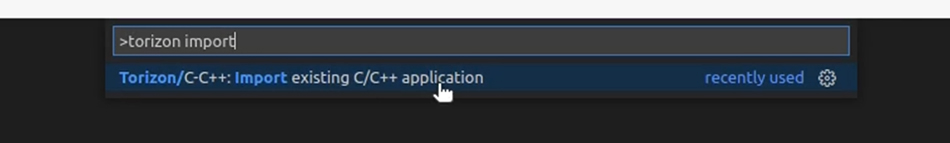 Import an existing C/C++ application