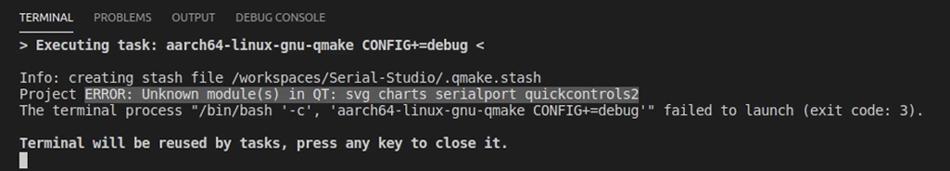 Build error due to missing development dependencies