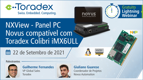 Novus NXView Panel PC Compatible with Colibri iMX6ULL